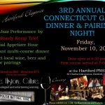 3rd Annual Live Jazz and Game Dinner Evening at the Hartford PNH