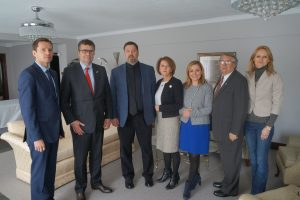 Polish Ambassador to US Visits with Hartford Polish Leaders