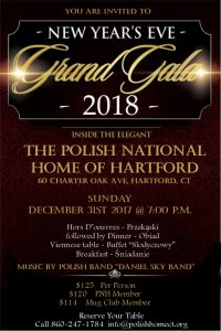 The biggest party of the year at the Hartford PNH - New Years Eve Gala 2018